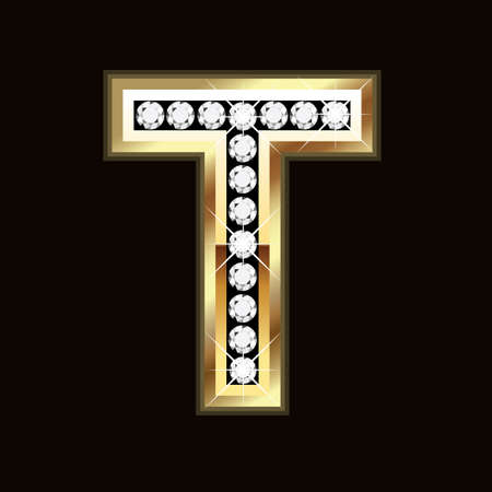 T  word bling Illustration