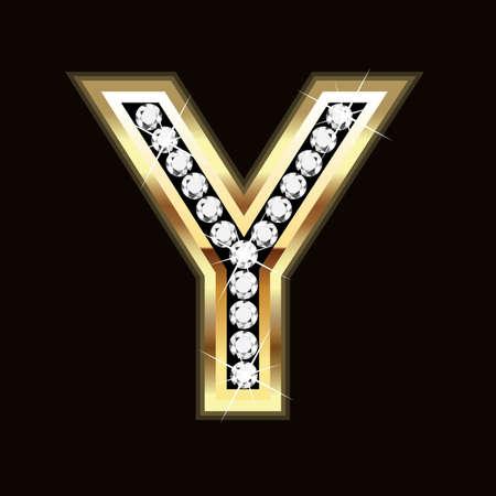 Y letter bling bling Vector