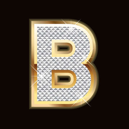B letter bling Stock Vector - 9757944