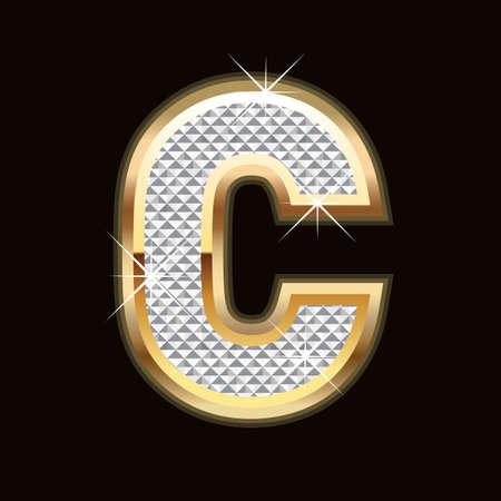 C letter bling Vector