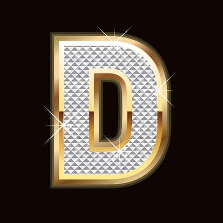 diamond letters: D letter bling