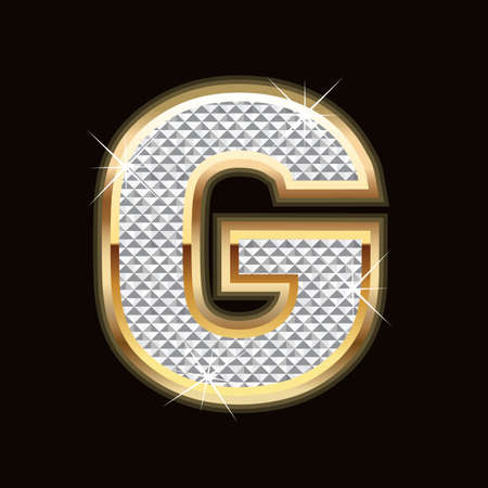 swank: G letter bling Illustration