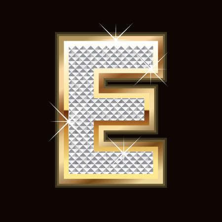E letter bling Ilustracja