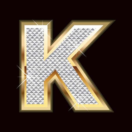 stylishness: K letter bling