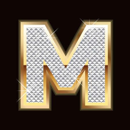 M letter bling