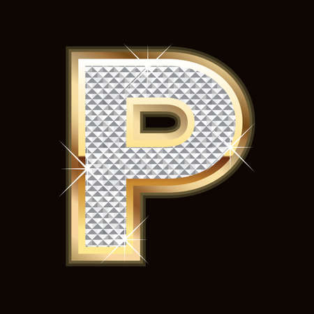 P letter bling Stock Vector - 9758021