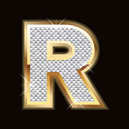 flashy: Bling lettera r