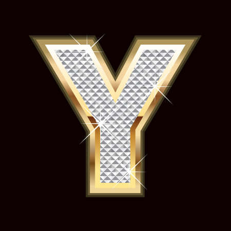 bling bling: Y letter bling Illustration