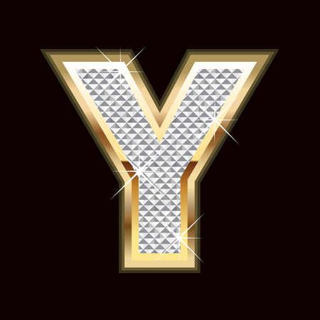 stylishness: Y letter bling Illustration