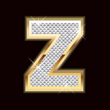 diamond letters: Z letter bling Illustration