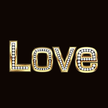 Love in bling bling Vector