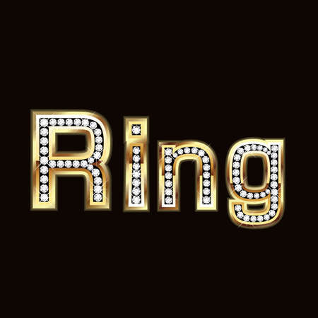 Ring in bling bling Vector