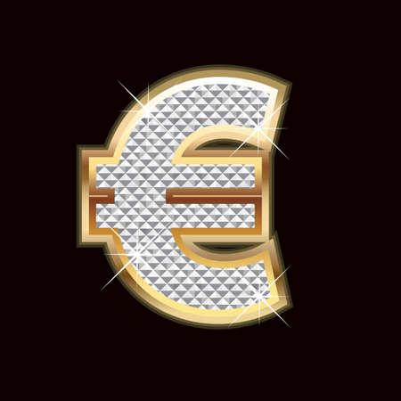 Euro bling Vector