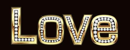Love word in bling bling Stock Vector - 9835979