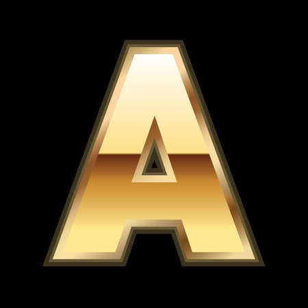 A gold letter Vector