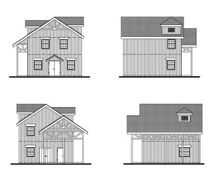 Little house bekeken Stock Illustratie