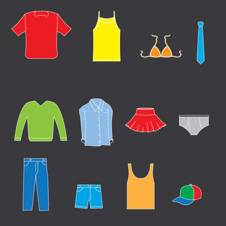Clothes collection Vector