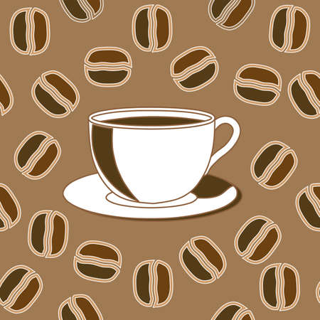coffee background seamless Stock Vector - 10550503