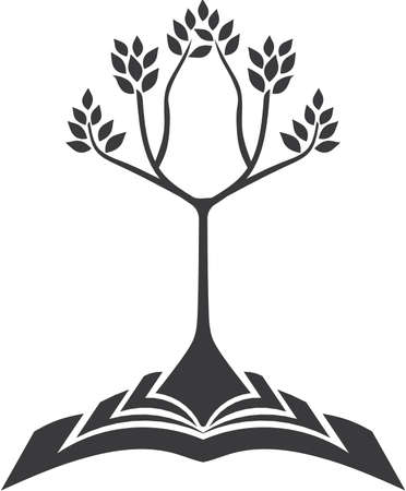 story book: Growing tree with book root