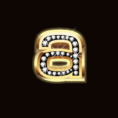 a lowercase in bling bling Vector