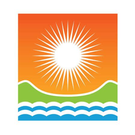 Sun beach Ilustrace