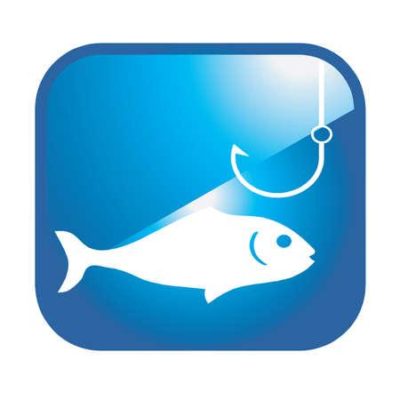 рыбаки: рыбалка значок Иллюстрация
