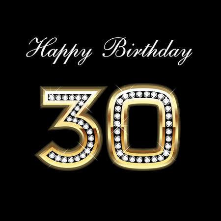 30ST Alles Gute zum Geburtstag Standard-Bild - 10837032