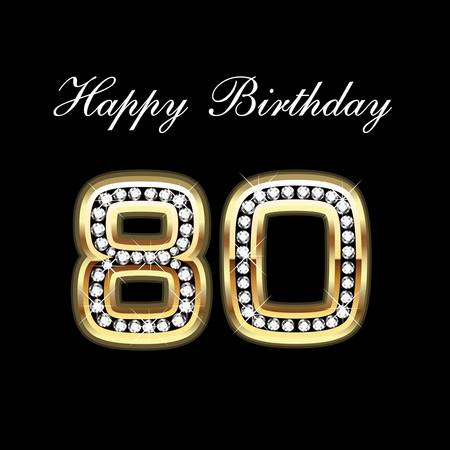 holiday background: 80th Happy Birthday