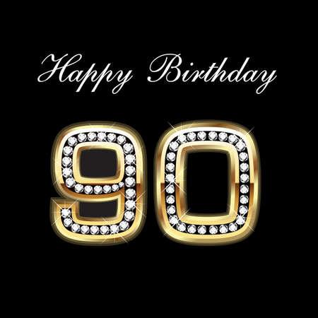 90 Buon Compleanno Archivio Fotografico - 10837029
