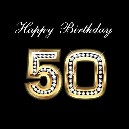 marco cumplea�os: Feliz cumplea�os 50a Vectores