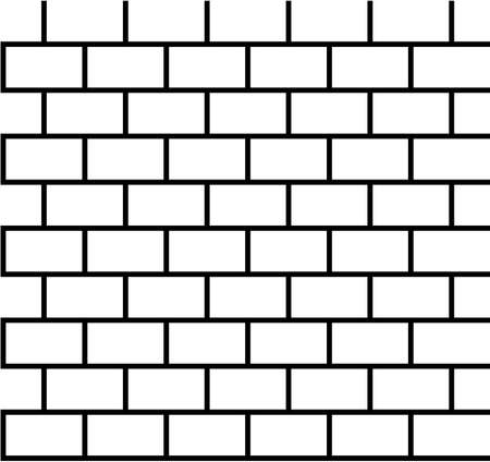 Brick pattern seamless black and white Illustration