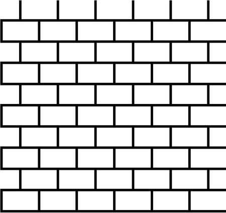 brique: Motif de brique sans soudure en noir et blanc