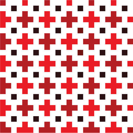 Red cross seamless pattern Stock Vector - 10837011