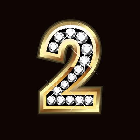 diamond letters: two bling bling