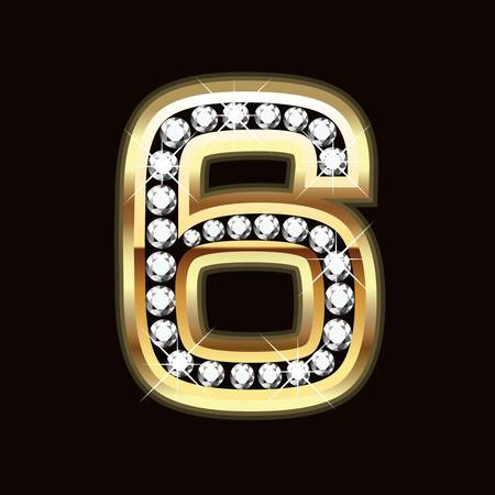 six bling bling Vector