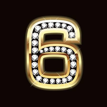 diamond letters: six bling bling