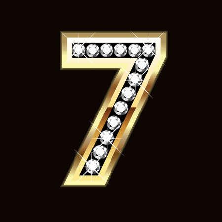 diamond letters: seven bling bling