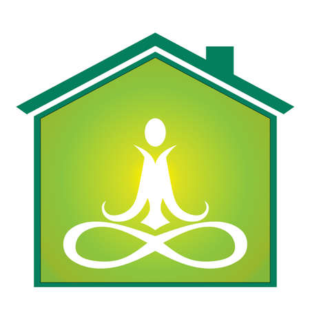 Yoga inside house Illustration