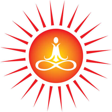 Yoga energy icon Vector