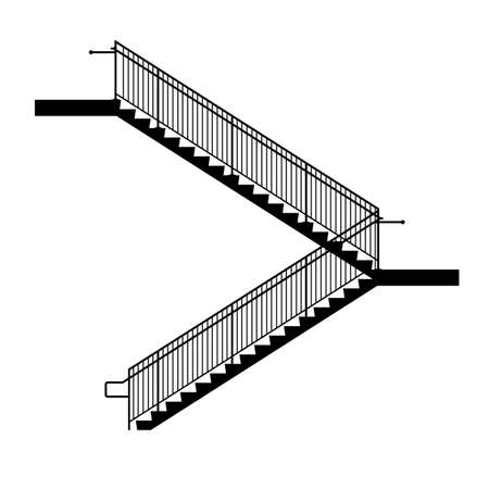 hand rails: Stairs Illustration