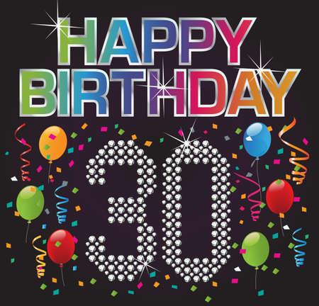 Glückliche Geburtstag 30 Standard-Bild - 11020701