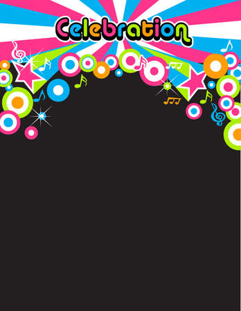 abstract melody: Celebration Party background
