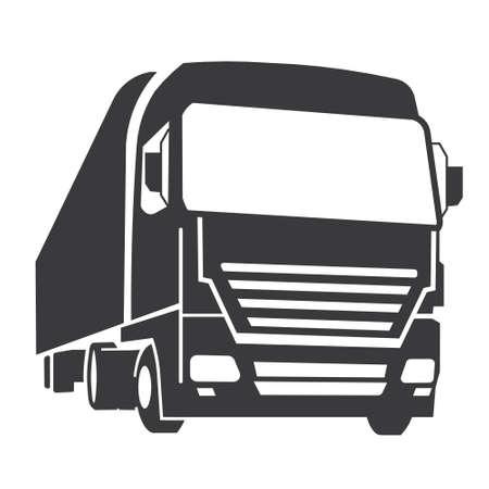 lorry: Camion icona Vettoriali