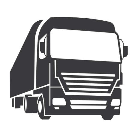 white truck: Truck icon Illustration