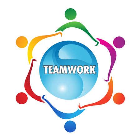 la union hace la fuerza: Trabajo en equipo Vectores