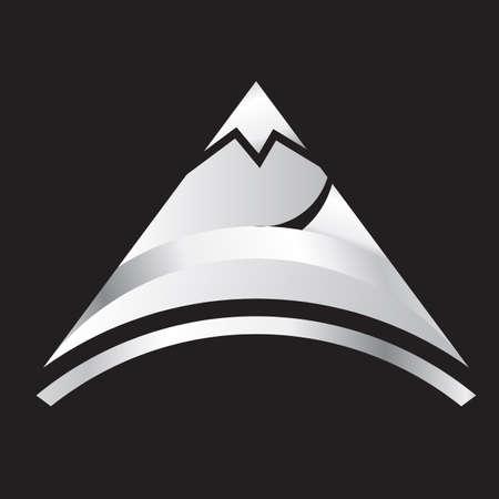 銀製山  イラスト・ベクター素材