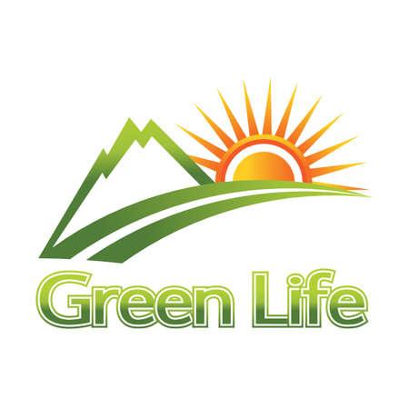 ridges: Natura verde vita Vettoriali