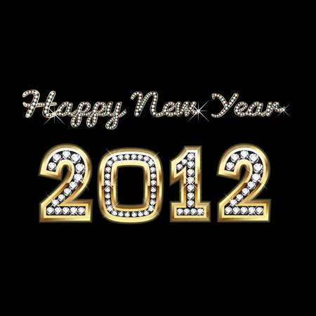 Happy New Year 2012 Stock Vector - 11668181