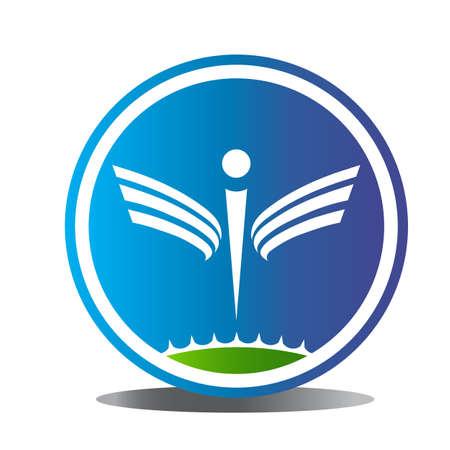 aesculapius: Logo simbolo Wellness Vettoriali