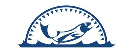 underwater fishes: Fishing logo